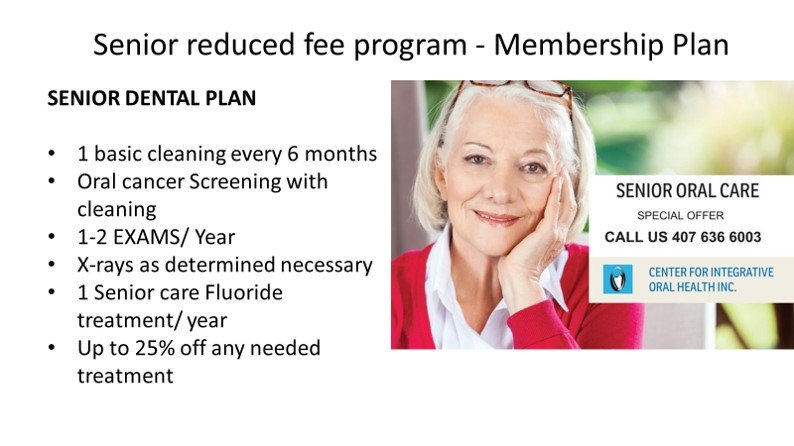 Senior dental care plan
